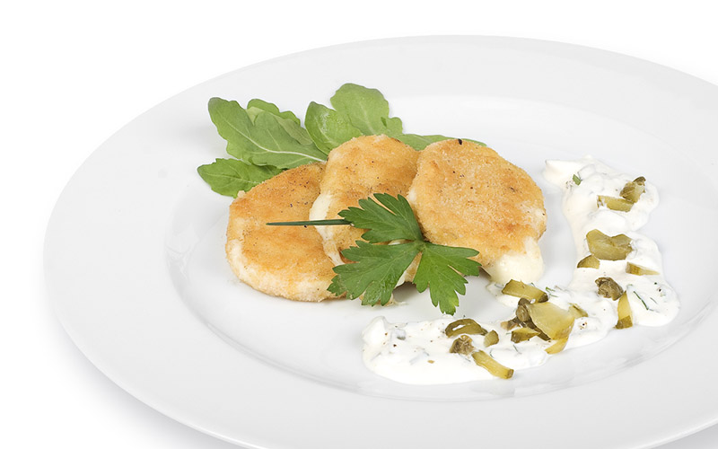 Gebackener Mozzarella mit Sauce Tartar