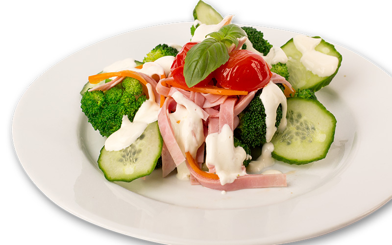 Brokkoli-Salat nach Florentiner Art