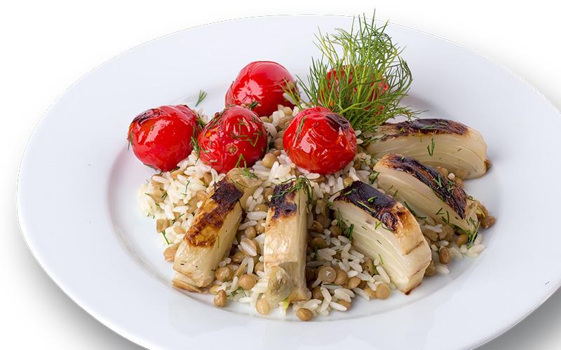 Reis-Linsen-Salat