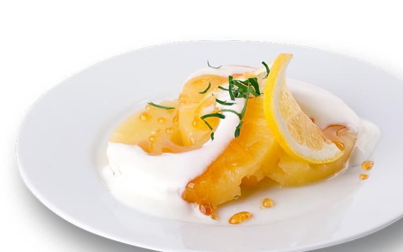 Karamellisierte Ananas-Scheiben