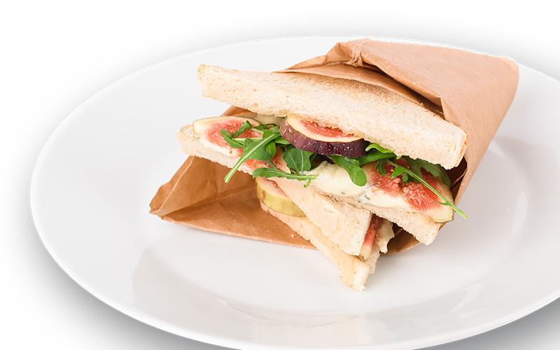 Feigen-Blauschimmelkäse-Sandwich