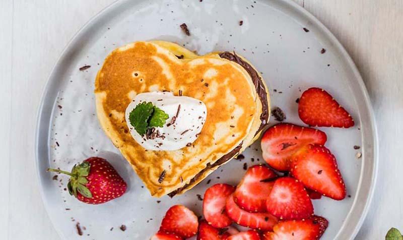 Herz-Pancakes