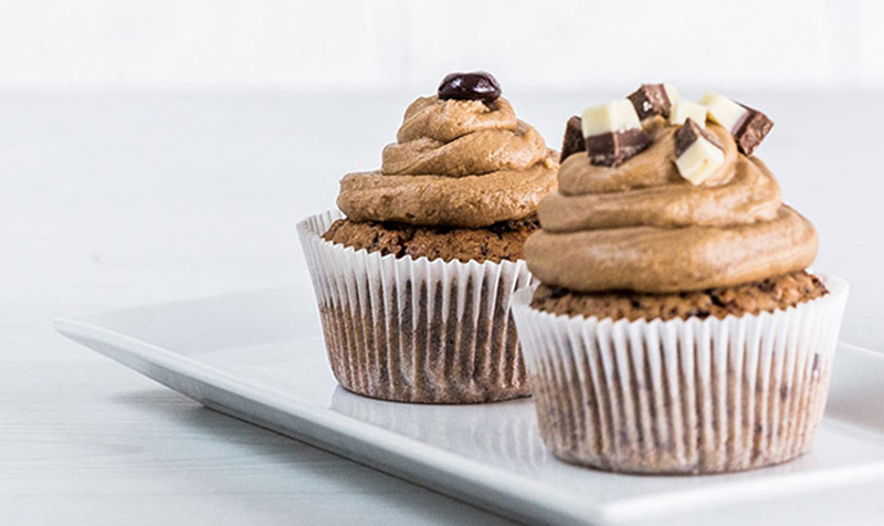 Kaffee-Schoko Cupcakes