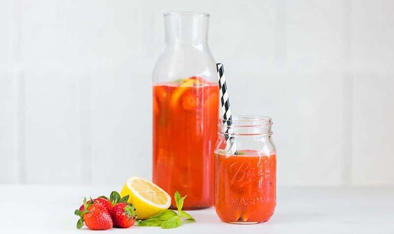 Erbeer-Minz-Limonade