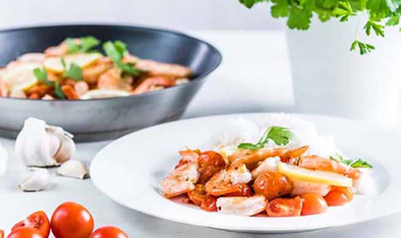 Tomaten-Garnelen-Pfanne
