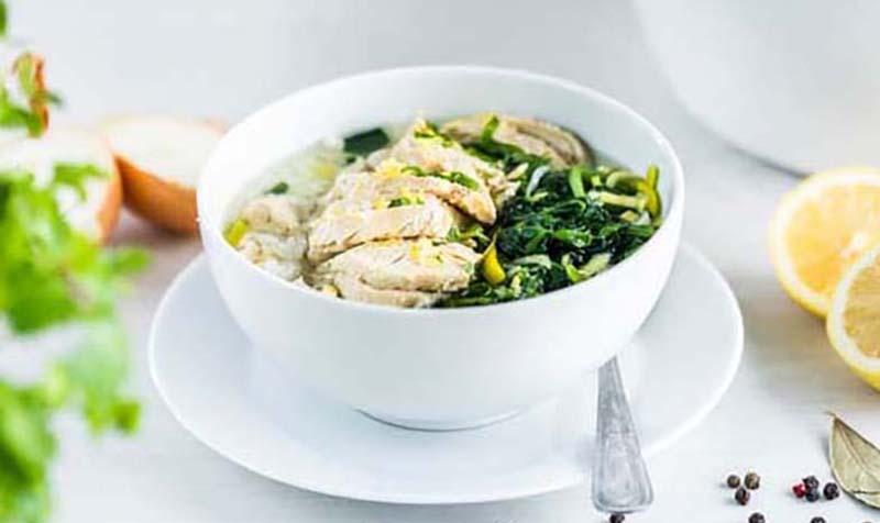 Hühnersuppe mit Spinat
