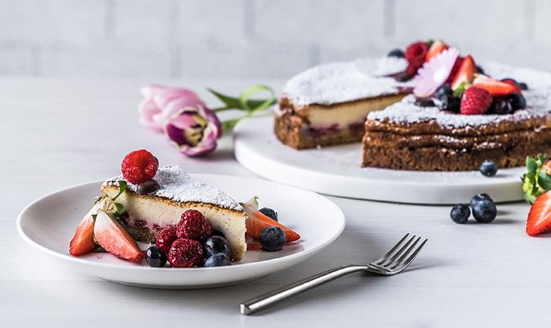Cheesecake mit Waldbeeren