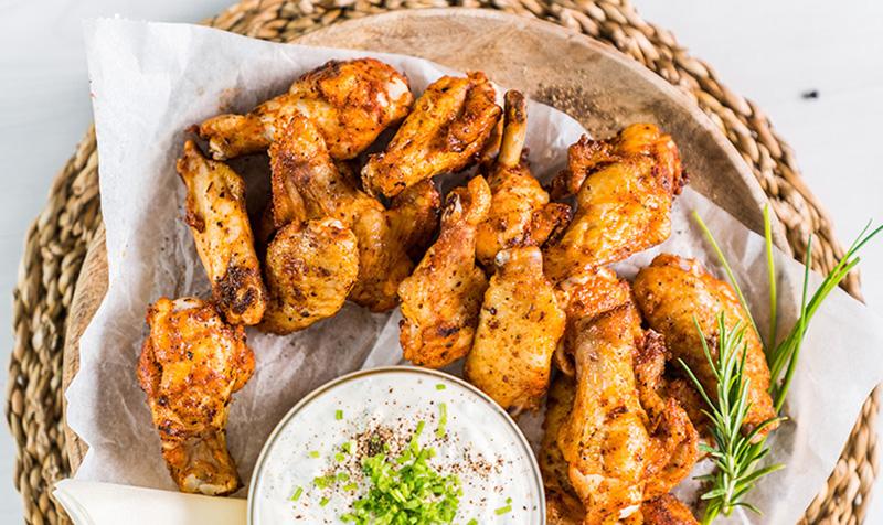 BBQ Chicken Wings mit Dip