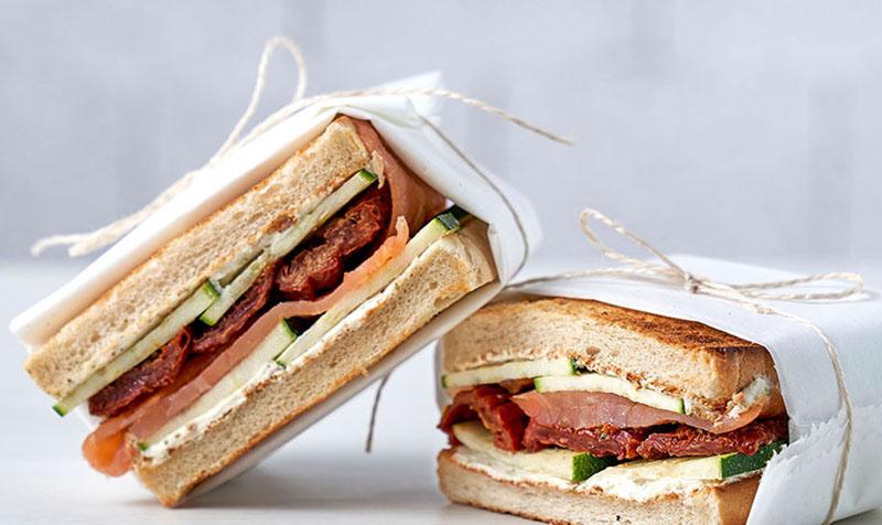 Lachsforellen-Sandwich