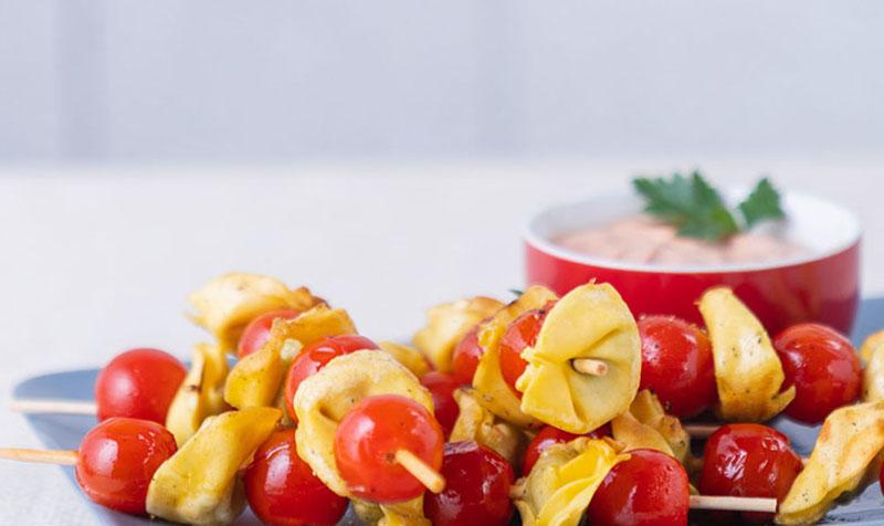 Tortelloni-Spieße vom Grill